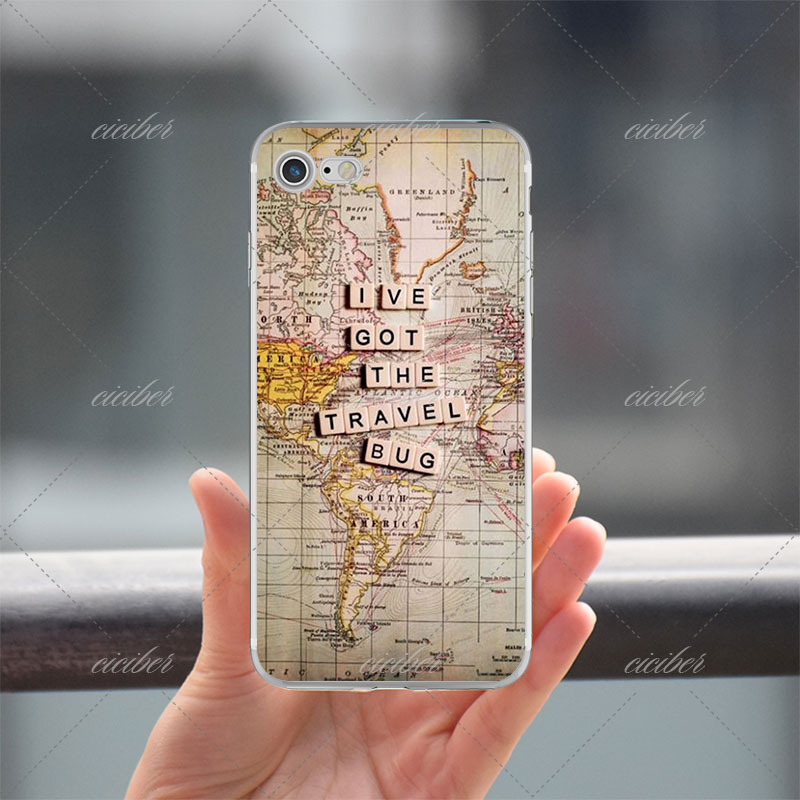 World Map Iphone 6s Case.World Map Travel Plans Soft Silicon Phone Cases Cover For Iphone 6