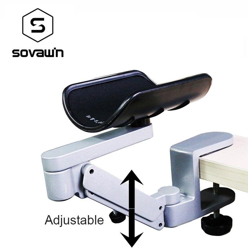 Repose-bras réglable en métal support de poignet accoudoir de tapis de souris étendu pour ordinateur ergonomique main confort tapis de souris protection des épaules - 2