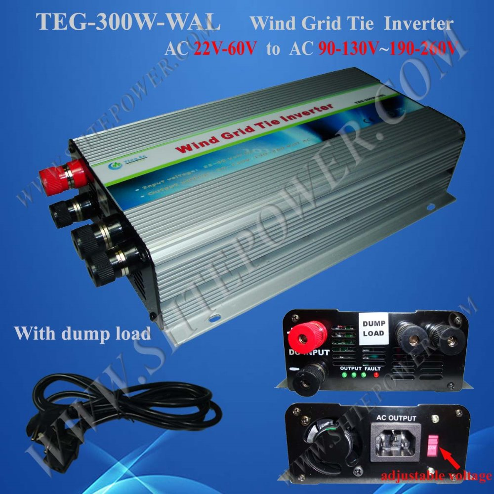 300W Grid Tie Inverter for wind turbine, Wide voltage input Power Inverter,DC 10.8V ~ 30V input to 190-260V/90-130v switch 300w solar grid on tie inverter dc 10 8 30v input to two voltage ac output 90 130v 190 260v choice
