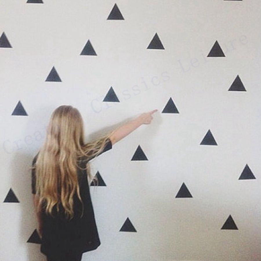 Free shipping 45 Triangles Sticker modern wall arts