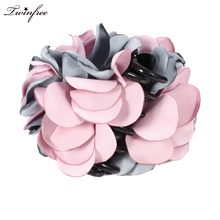 2017 Hot New Large Hair Claw Flower Beautiful Elegant Extra Thick Hair Clips Hairpin Hair Accessories for Women Black/Coffee(China)