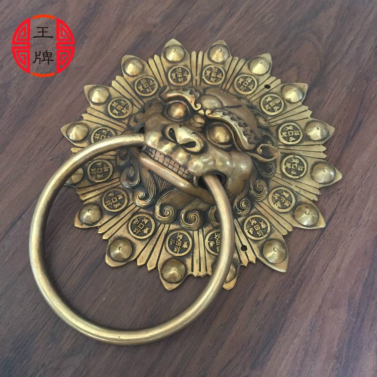 Gentil Chinese Antique Wood Temple Courtyard Door Ring Copper Shoutou Lion Head  Retro Handle Door Handle Temple In Door Handles From Home Improvement On ...