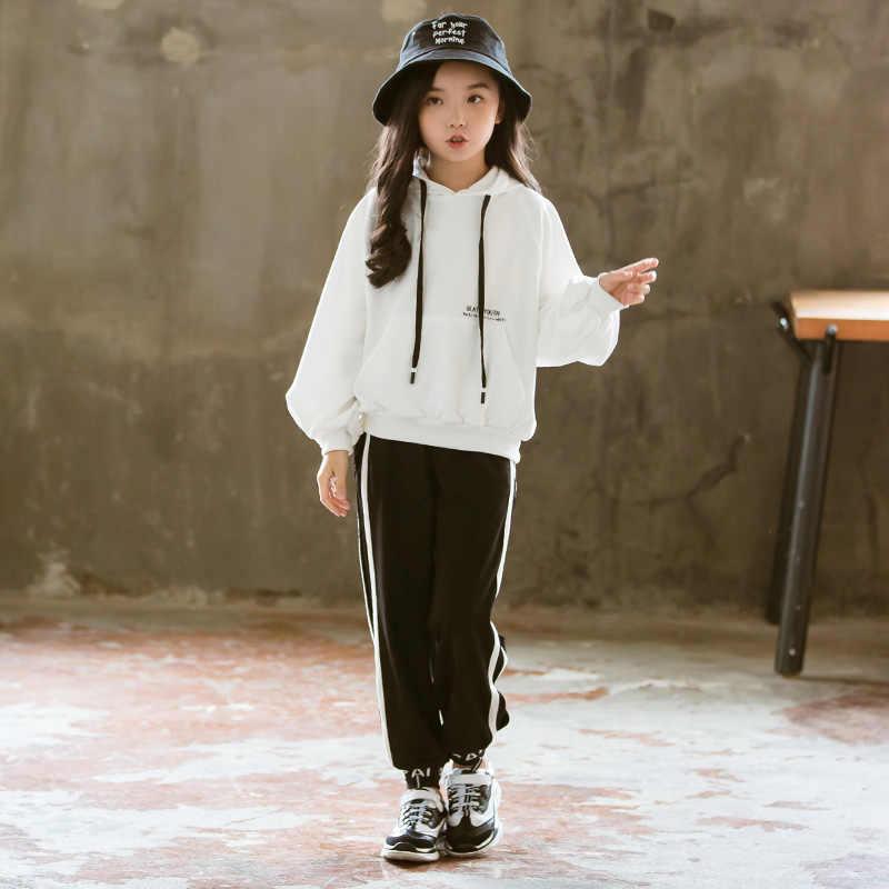 אופנה בנות בגדי ילדי סטי בגדי אימונית בנות סתיו תלבושות ילד פעוט 2019 בוטיק למעלה + מכנסיים 4 כדי 13 שנים