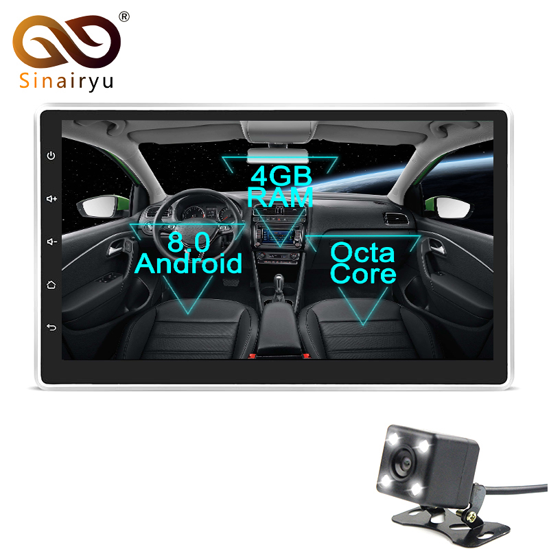 Sinairyu Android 8 0 Octa Core 10 1 Car DVD Player for Universal 2 Din GPS