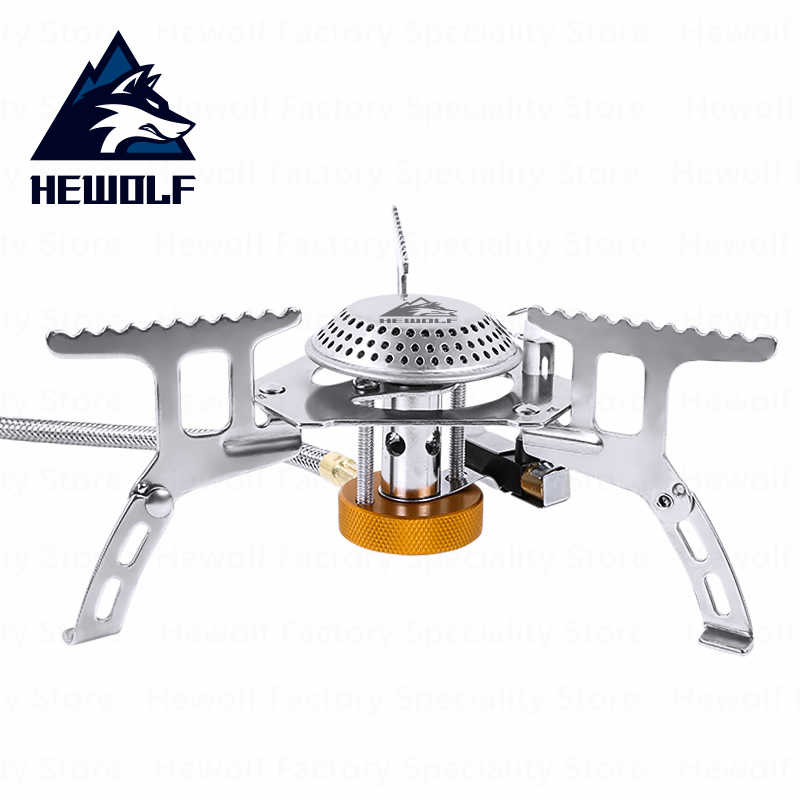 Folding Mini Stove Head Camping Outdoor Picnic Gas Burner Furnace Connector