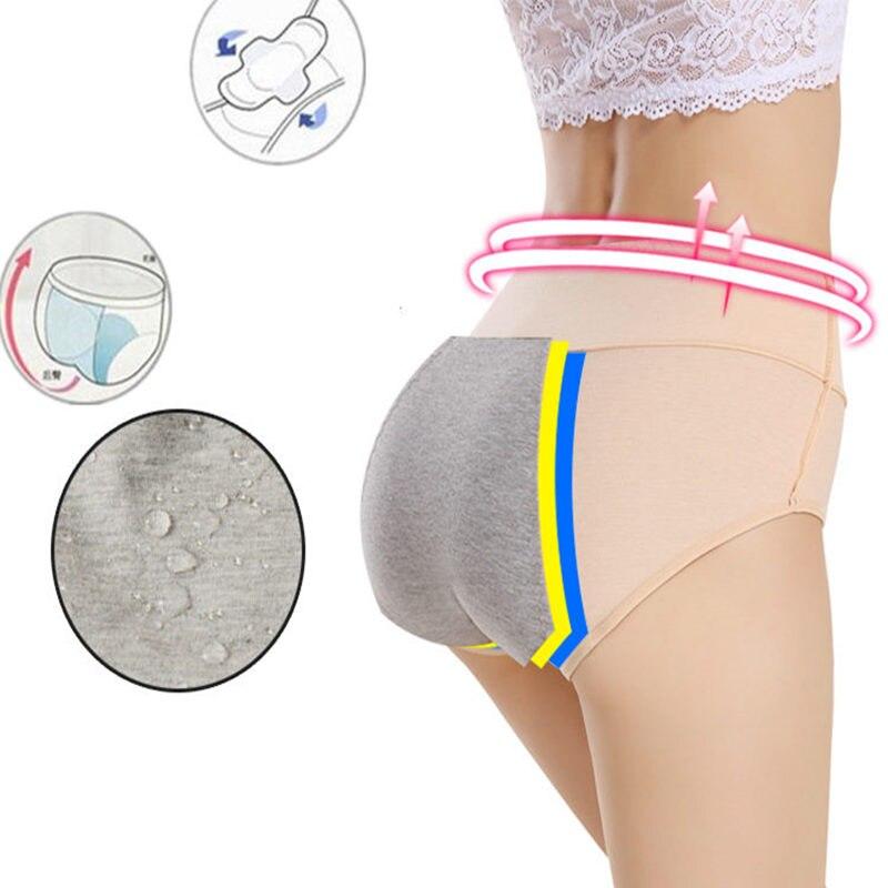 NEW Women Cotton Menstrual Underwear pink Panties Seamless High Waist Warm Female Panties Physiological Leakproof Female in women 39 s panties from Underwear amp Sleepwears