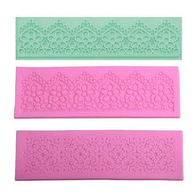 Flower Lace Silicone Mat Chocolate Mold Fondant Cake Mold DIY Baking Decorating Tools Kitchen Bakeware Sugarcraft Cake Tools cake border decoration lace mat sugracraft lace mold for fondant wedding cake decorating cake decorating tools bakeware lfm 27