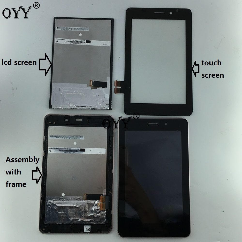 N070ICE -GB1 LCD Display Panel Screen Touch Screen Digitizer Glass Assembly with frame  For ASUS Fonepad ME371MG ME371 K004 new 11 6 full lcd display touch screen digitizer assembly upper part for sony vaio pro 11 svp112 series svp11216px svp11214cxs