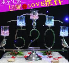 New wedding ceremony 520 champagne tower package of candlestick the setting props.