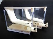 Dental Products Storage Box Dentist Cotton Roll Dispenser Holder Press Type White