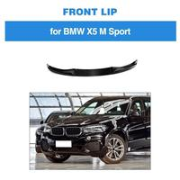 MP Style 3PCS Carbon Fiber Front Lip Spoiler Chin Protector Apron for BMW X5 M SPORT 2014 2018