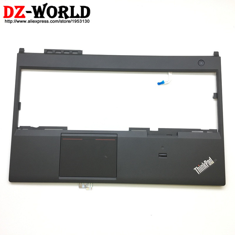 New Original for ThinkPad T540P W540 Keyboard Bezel Palmrest Cover 00HM101 with NFC/Switch/Touchpad/Fingerprint Reader/Cables gzeele new for lenovo thinkpad s1 yoga keyboard bezel palmrest cover with touchpad and connecting cable 00hm067 00hm068 black c