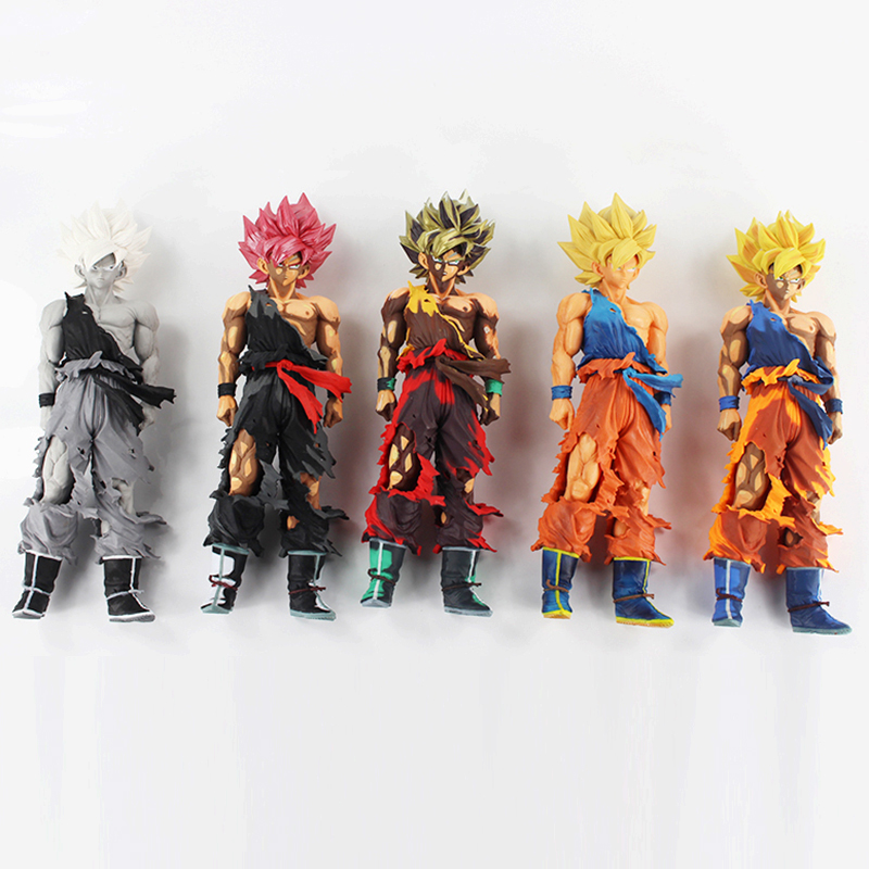 5Style 32cm Dragon Ball Z Super Saiyan Son Goku MSP Lunar New Year mixed color PVC Figure Toy anime figure 32cm dragon ball z super saiyan son goku lunar new year color limited ver pvc action figure collectible model toy