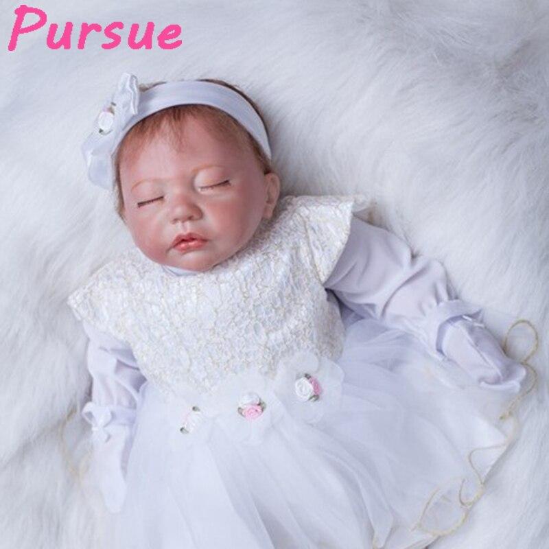цена на Pursue 53cm Newborn Reborn Baby Dolls Nursery for Adoption Reborn Girl Child Lifelike Baby Doll boneca bebe reborn barato menina