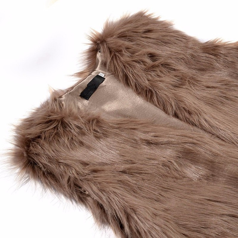 4 brown fur vest i_
