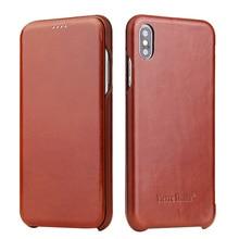 Newisdom для iphone X case пояса из натуральной кожи iphone XS Max Флип защитный чехол для XR кожаный 7 plus 8 для мужчин