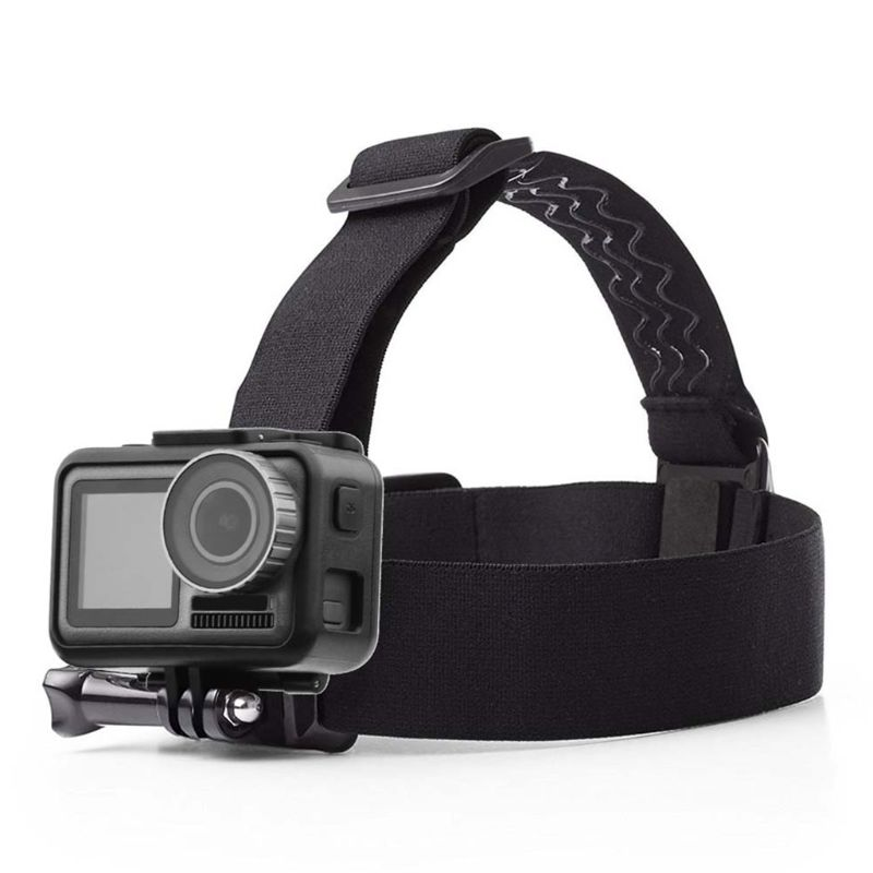 Premium Adjustable Anti Slip Strap Adapter Head Band Black Nylon Belt For DJI Osmo Action For Gopro Sports Camera Accessories