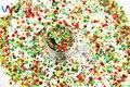 Xmas-284 Holográfica Láser Colores Mezclados Ronda Dot Forma Cequis Del Brillo para el arte de uñas y BRICOLAJE decoración de la Navidad