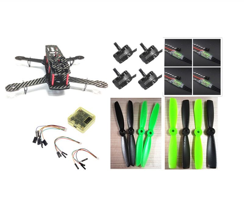 DIY mini FPV 250 racing quadcopter carbon fiber frame run with 4S kit CC3D+EMAX MT2204 II 2300KV+Dragonfly 12A ESC opto mini zmr250 carbon fiber quadcopter cc3d evo control mt2204 2300kv motor emax blheli firmware 20a esc 5045 prop led lights board