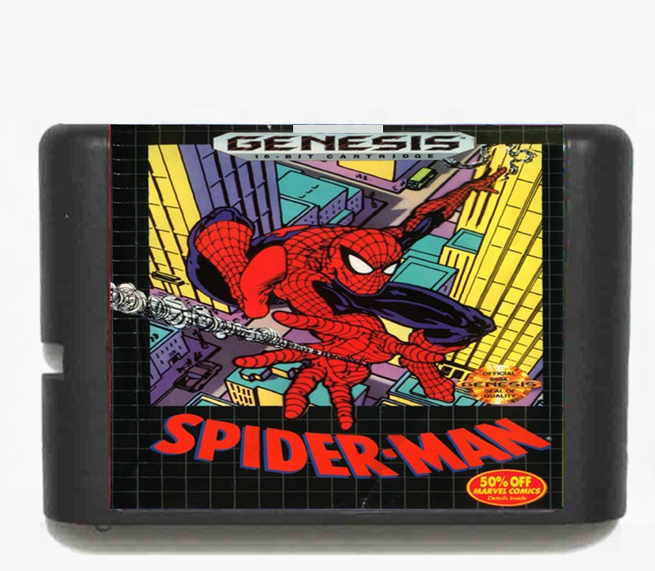 Spider Man for 16 bit Sega MD Game Card for Mega Drive for Genesis Video Console