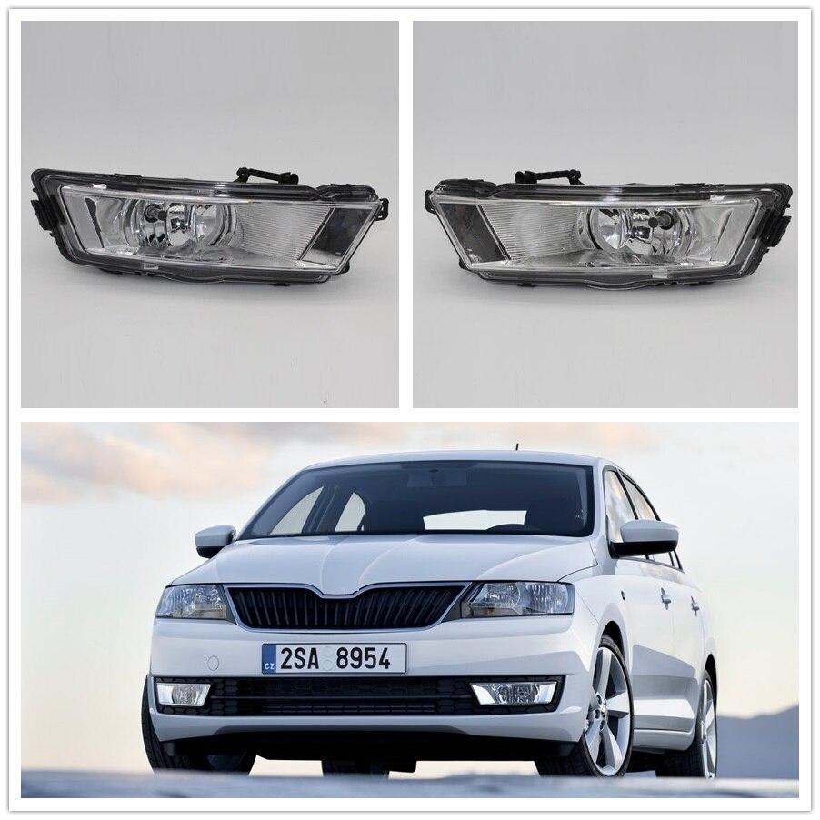 Здесь продается  Car Light For Skoda Rapid 2013 2014 2015 2016 2017 Car-styling Front Bumper Halogen Fog Light Fog Lamp   Автомобили и Мотоциклы