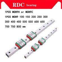9 мм линейный руководство MGN9 L = 100 200 300 350 400 450 500 550 600 700 800 мм линейный железнодорожные пути + MGN9C или MGN9H Длинные линейные перевозки