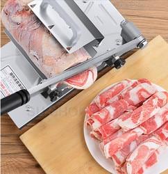 Rebanadora de carne rebanada cortadora de carne rebanadora Manual entrega automática de carne de escritorio fácil cortar carne congelada y cordero