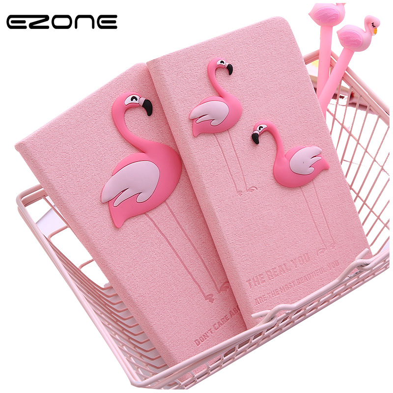 EZONE Fresh Pink Notebook Impreso Kawaii Unicornio / Flamingo Note - Blocs de notas y cuadernos
