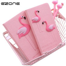EZONE Fresh Pink Notebook Printed Kawaii Unicorn Flamingo Note Book Traveler Journey Diary Students Notepad School