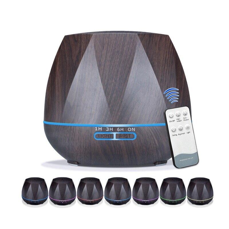 500 ml Aromatherapie Ätherisches Öl Aroma Diffusor Mit Fernbedienung 7 Farbe Led-leuchten Für Hause Luft Aroma Diffusor Luftbefeuchter
