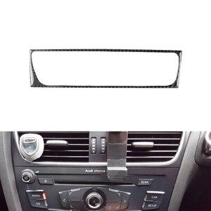 Image 3 - Dla Audi A4 B8 A5 Q5 2010 2011 2012 2013 2014 2015 2016 z włókna węglowego centrum sterowania klimatyzator osłona ramy wylotowej wykończenia