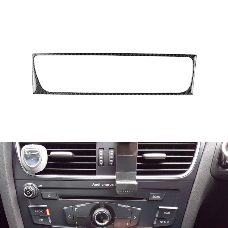 Image 3 - For Audi A4 B8 A5 Q5 2010 2011 2012 2013 2014 2015 2016 Carbon Fiber Center Control Air Conditioner Outlet Frame Cover Trim-in Interior Mouldings from Automobiles & Motorcycles