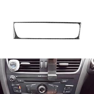 Image 3 - Para Audi A4 B8 A5 Q5 2010, 2011, 2012, 2013, 2014, 2015, 2016 de fibra de carbono Centro de aire acondicionado de Control cubierta para marco de salida Trim