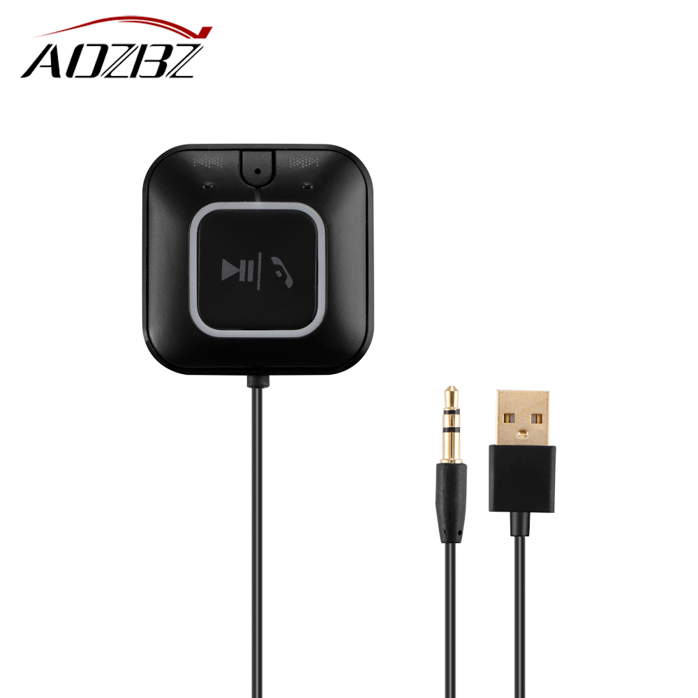 AOZBZ 3.5mm NFC Bluetooth Music Audio Receiver Adapter Hands Free Car Kit A2DP Streaming Kit For