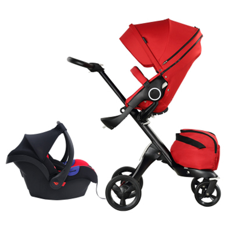 Luxury Baby Stroller 2 In 1 High Landscape Folding Portable Baby Carriage For dolls 0-3 years old