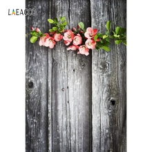 лучшая цена Laeacco Wooden Board Flowers Baby Pets Cake Portrait Photography Backgrounds Customized Photographic Backdrops For Photo Studio