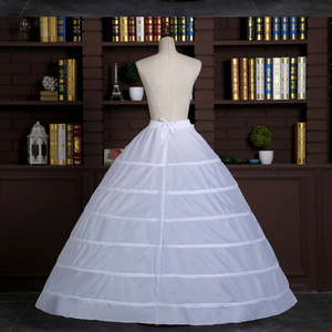 Image 2 - Dantel kenar 6 Hoop Petticoat jüpon topu cüppe şeklinde gelinlik 110cm çapı iç çamaşırı kabarık etek düğün aksesuarları