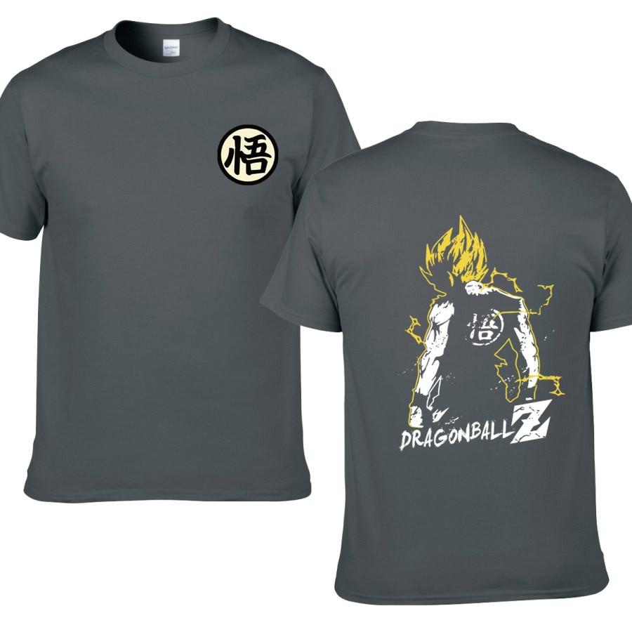 Anime Dragon Ball Super Goku Symbol Short Sleeve T-shirt Tee Cotton T Shirt Tops