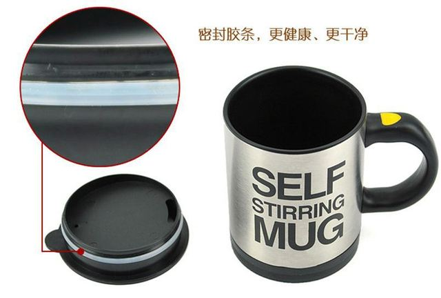 Free shipping 2013 hot sale automatic coffee mixing cup mug stainless steel  self stirring mug fashion cup mug bluw