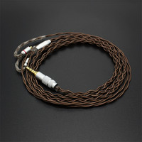 Nueva 1.2 M FENGRU 3.5mm Cable MMCX Cable 0.78mm 2Pin 7N Cobre Del Solo Cristal Upgrade Cable Uso Para Shure serie pin (535/215, etc)