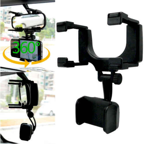 Universal 360° Car Rearview Mirror Mount Stand Holder Cradle For Cell Phone  GPS Car Rear View Mirror Holder|Phone Holders & Stands| - AliExpress