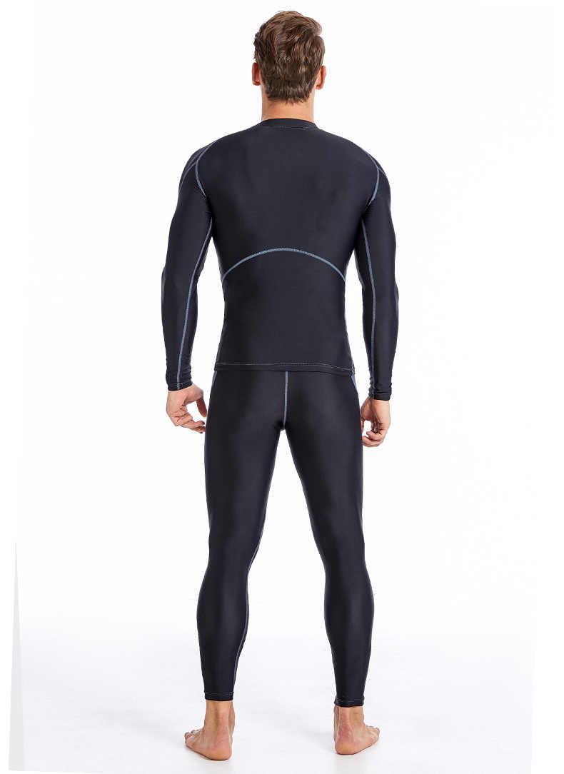 Sabolay לשחות חולצה גברים פריחה משמר לייקרה לגלוש uv ארוך שרוול שחייה חולצה בגדי ים גברים ארוך שרוול |-f -| מכנסיים גלישה בגדים
