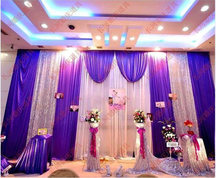 Aliexpress Buy Dhl Purple Wedding Backdrop Curtain 3