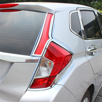 WELKINRY car auto cover styling For Honda Fit Jazz 2014 2015 2016 2017 2018 ABS chrome rear tail lamp light taillamp trim