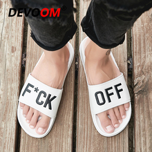 Beach Slippers Summer Men Flip Flops Men Fashion Characters Upper White Shoes For Man Outdoor Ocean Water Breathable Slippers