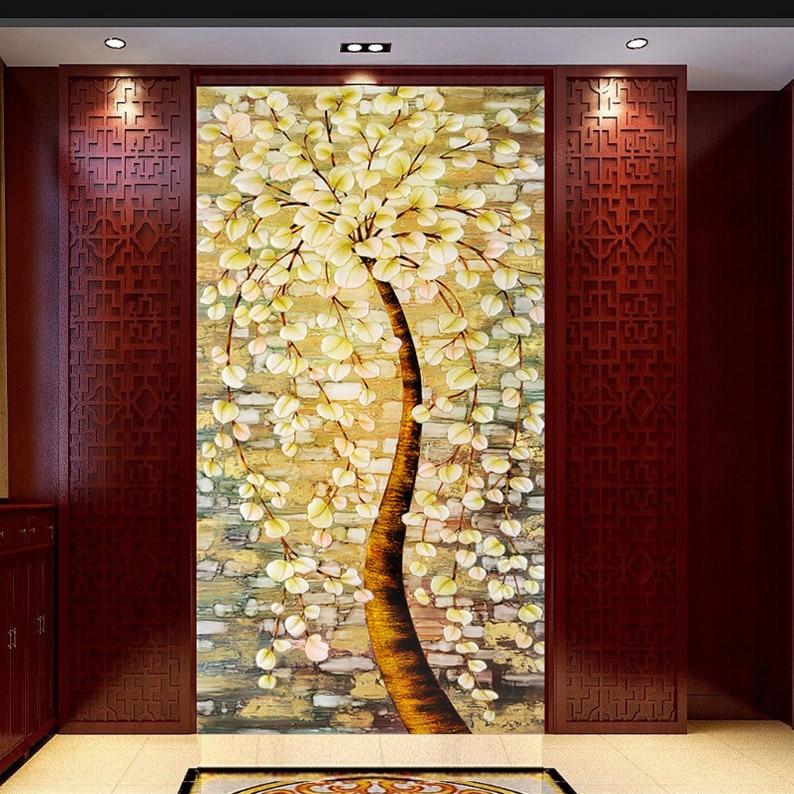 Промоционален размер най-висок клас Винтидж европейски стил на изкуството Полупрозрачно самозалепващо се стъкло, стикери за врати H503