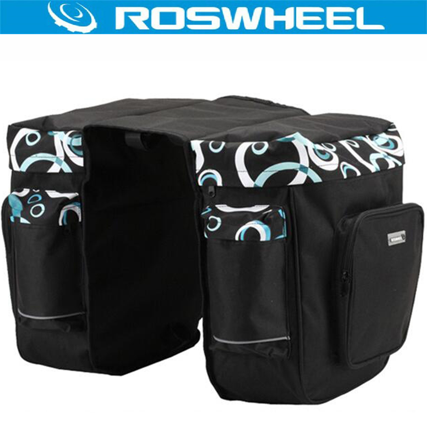 ROSWHEEL 30L Bicycle Bag Bike Carrier Double Side Rear Bag Cycling Rack Trunk Rear Seat Bag Luggage Pannier Cycling Accesories