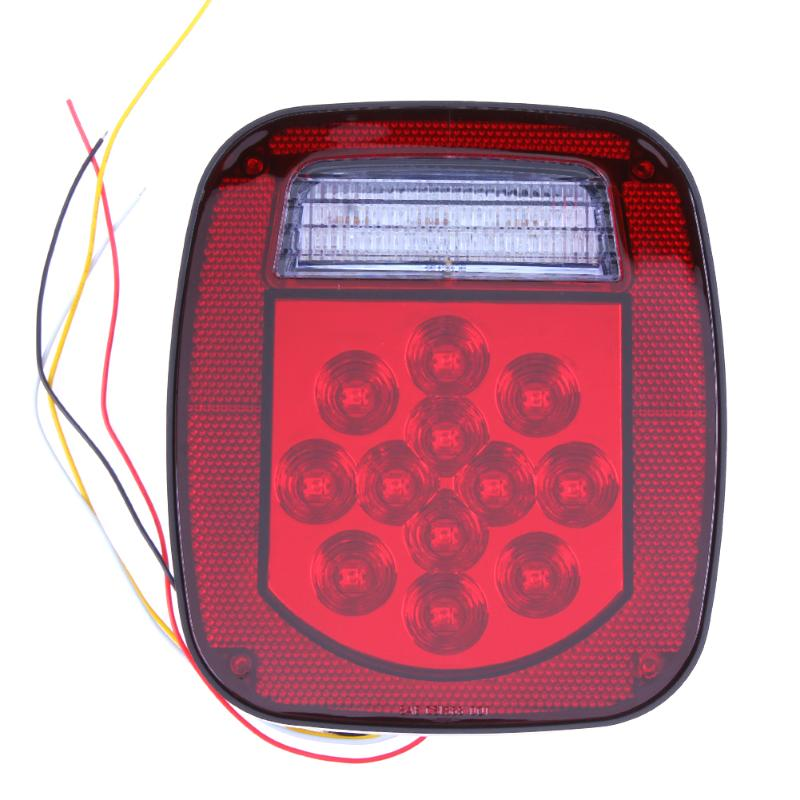 VODOOL 2pcs Truck Boat Trailer Light 39 LED Red White Stop Turn Signal Tail Backup License Lights Reverse Lamp For Truck Trailer 2pcs 20 led car truck red amber white led trailer waterproof tail lights turn signal brake light stop rear lamp dc 12v cy798 cn
