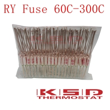 100PCS/LOT Thermal fuse RY Tf 60-190 Celsius degrees 10A250V Metal Protector thermal metal shell Cutoff