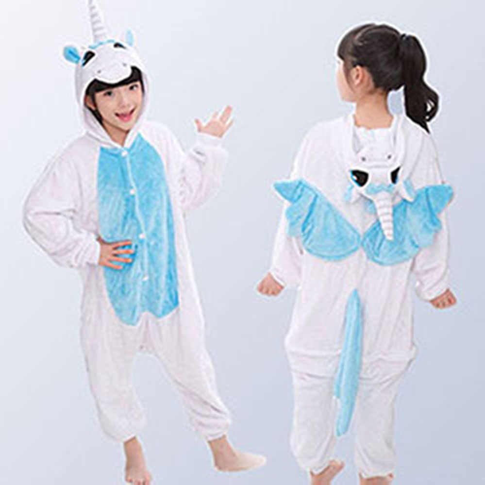 a6c524aa95 Kids Animal Stars Unicorn Pajamas For Boys Girls Flannel Cartoon Children  Sleepwear Cute Hooded Pijamas Onesies